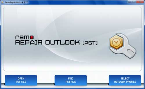 Fix Outlook 2013 PST - Main Screen
